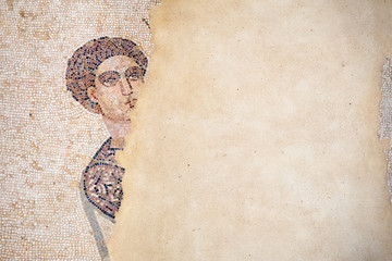 Old roman mosaics in the famous imperial Villa del Casale in Piazza Armerina, Sicily, Unesco world heritage of the 4th century A.C.
