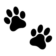 Paw prints. Vector illustration.