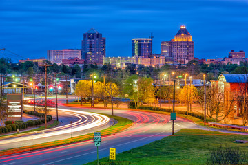Greensboro, North Carolina, USA skyline.