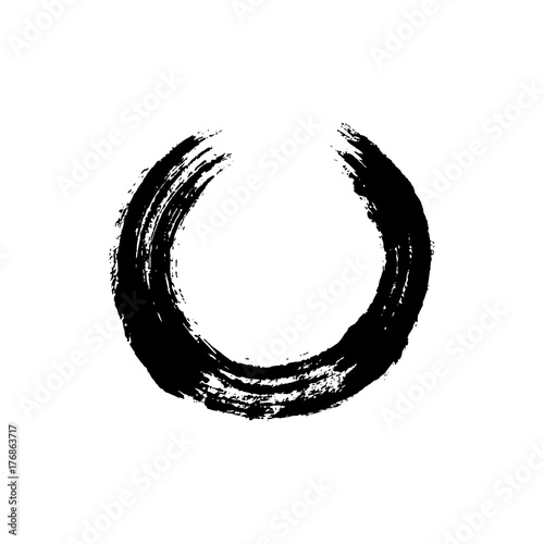 Enso Open Circle Buddhist Symbol For The Never Ending Journey To Be
