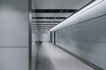 Empty Airport Corridor
