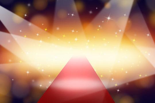 spots on red carpet - festive backdrop