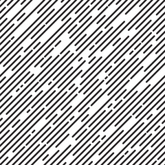 Black and white diagonal stripe background, line design, seamless pattern, vector illustration