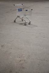 The cart in the supermarket