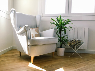 Nice armchair in a living room.