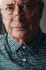 Elderly man portrait.