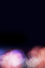 Beautiful photography of bright Blur colorful Bokeh Background with copy space.
