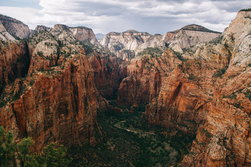 expansive views from angels landing zion national park