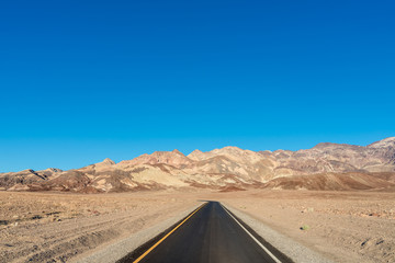 Road to scenic Artists Drive in Death Valley National Park, California