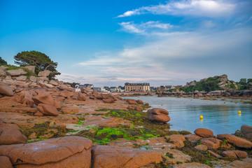 Pink granite coast, Perros Guirec, Brittany, France