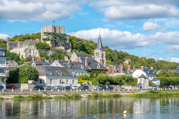 Montrichard Castle and city in Touraine region along Cher river, France