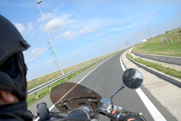 Motorbike on the road