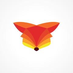 modern vibrant orange fox head logo design