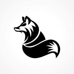 elegant majestic modern wolf logo
