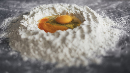 Eggs in Flour
