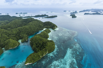 Palau islands aerial view