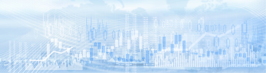 Business stock market background