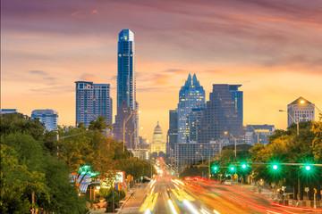 Fototapete - A View of the Skyline Austin