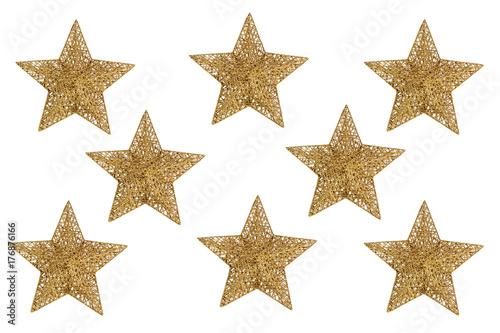 Estrellas Doradas De Navidad Fotos De Archivo E Imagenes Libres De