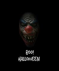 boo halloween scary clown