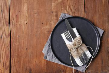 nice simple table setting