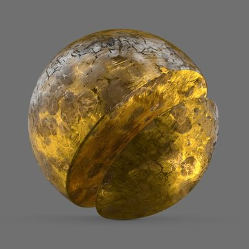 Damaged natural gold