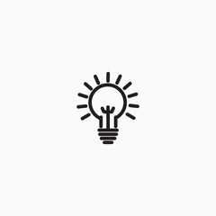 Bulb vector icon, creative lamp symbol. Modern, simple flat vector illustration for web site or mobile app