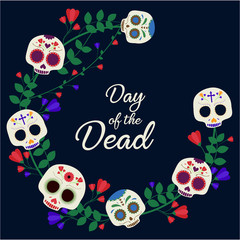 Day of the Dead card or background. vector illustration.