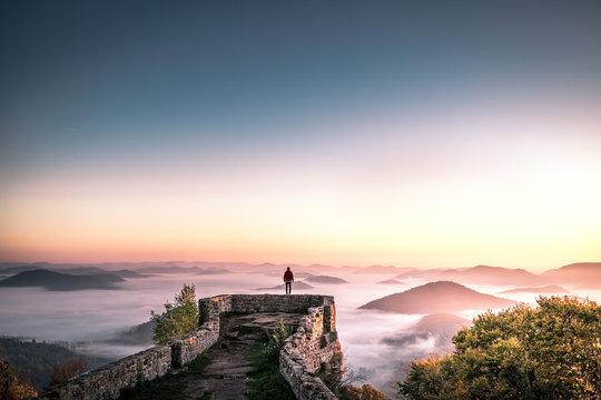 Exploring Sunrise at Wegelnburg in Germany