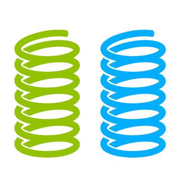 Steel spring vector icon