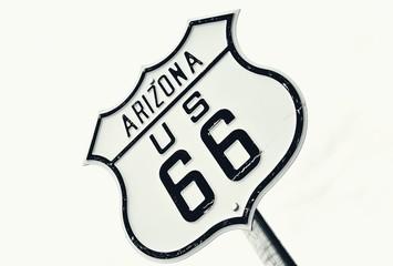 Foto op Plexiglas Route 66 Highway route 66 road sign, Arizona.