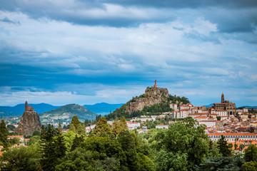 Vue sur Le Puy-en-Velay depuis Espaly Saint-Marcel