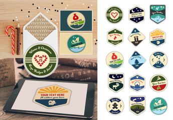 15 Retro Winter Badge and Logo Layouts