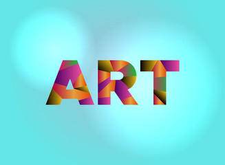 Art Concept Colorful Word Art Illustration
