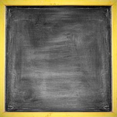 Chalk rubbed out on blackboard , background
