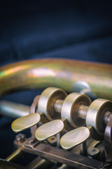 Closeup view of the trumpet flaps