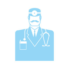 Doctor icon. physician sign symbol. Vector illustration