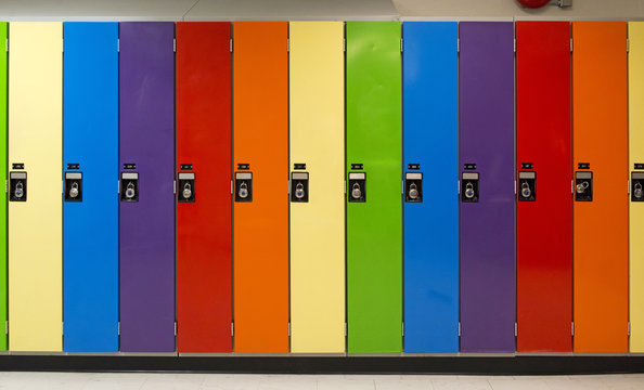 Rainbow Colored Lockers