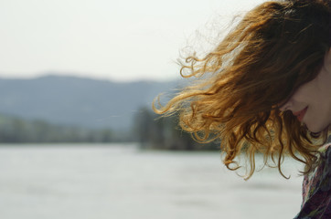 Red hair on the wind