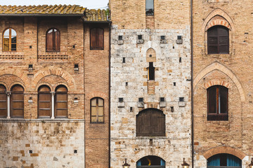 San Gimignano Medieval Architecture in Town