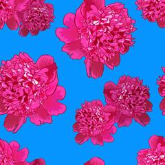 Pink peony.Seamless pattern2