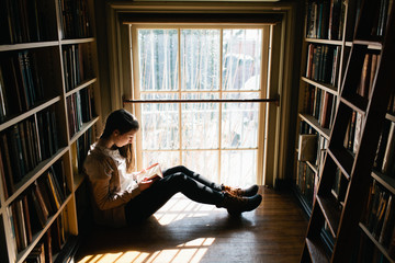 Young woman enjoying a book