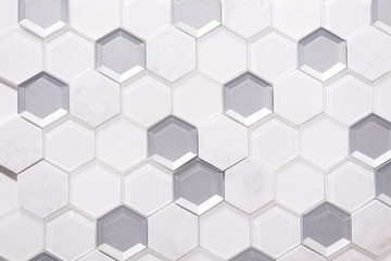 Ceramic tiles for bathroom or kitchen. Background texture with gray cracks