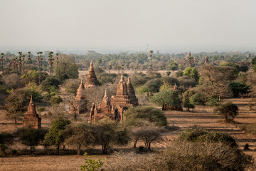 Old Bagan at sunset