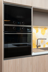 Built-in appliances in contemporary kitchen