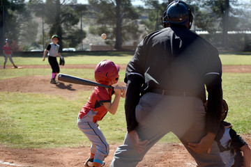 Little batter at the plate