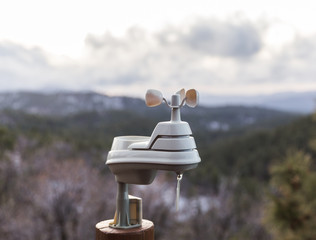 Weather Station in Forest Area