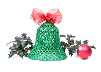 Christmas bell, isolated on white background