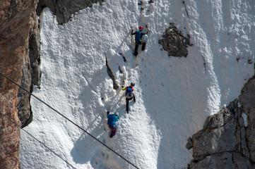 Climbers at Dachstein glacier, Austria
