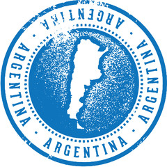 Vintage Argentina South America Travel Stamp